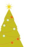 Rétro arbre de Noël Photographie stock libre de droits