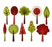 Rétro arbres Images libres de droits