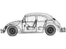 Rétro architecte Blueprint de concept de voiture - d'isolement illustration libre de droits