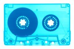 Rétro au néon à la mode de bande de cassette sonore d'isolement photos stock