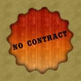 Rétro AUCUN texte de CONTRAT sur le fond en bois de panneau illustration libre de droits