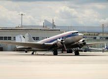 Rétro avion de propulseur Images libres de droits