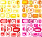 Rétro bagout de rectangles Image stock