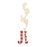 rétro bande dessinée de chaussettes puantes Photo libre de droits