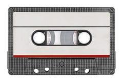 Rétro bande noire de cassette sonore Label de papier gris photo stock