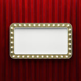 Rétro bannière brillante de rectangle Photographie stock libre de droits