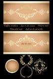 Rétro bannière décorative Photo libre de droits
