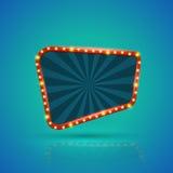 Rétro bannière légère abstraite avec les ampoules sur la découpe illustration de vecteur