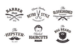 Rétro Barber Emblems Image stock