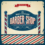 Rétro Barber Shop - style de vintage Photos stock