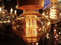 Rétro belle maison de lumière électrique Photographie stock libre de droits