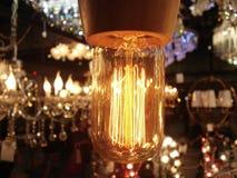 Rétro belle maison de lumière électrique Photo libre de droits