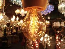 Rétro belle maison de lumière électrique Photographie stock
