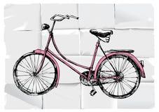 Rétro bicyclette illustration de vecteur
