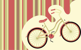 Rétro bicyclette illustration de vecteur