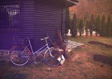 Rétro bicyclette image stock