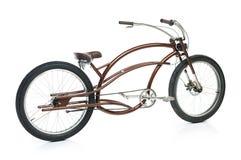 Rétro bicyclette dénommée d'isolement sur un blanc Photographie stock