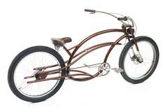 Rétro bicyclette dénommée d'isolement sur un blanc Photo libre de droits