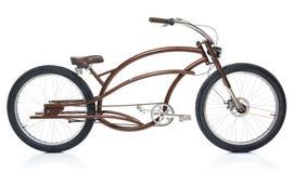 Rétro bicyclette dénommée d'isolement sur un blanc Image libre de droits