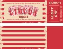 Rétro billet de cirque Images stock
