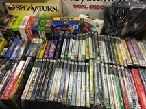 Rétro bit Playstation de système Sega Saturn 16 de jeu 2 cartouches de jeu photos stock