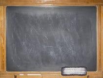 Rétro blanc de message de craie de tableau noir rayé image libre de droits