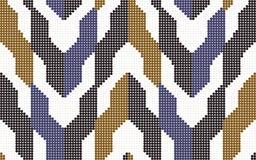 Rétro bloc sans couture coloré tramé de la géométrie de flèche de modèle illustration libre de droits