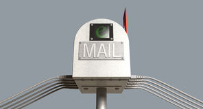 Rétro boîte aux lettres d'email Photographie stock libre de droits