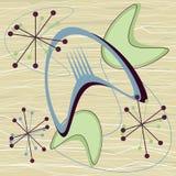 Rétro boomerang atomique Starburst de fond de vintage de la moitié du siècle des années 1950 illustration libre de droits
