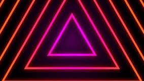 Rétro boucle colorée de fond de tunnel de triangle de cru