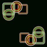 Rétro boucles Image libre de droits