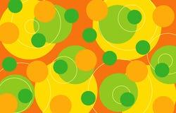 Rétro boucles - citron Photo libre de droits