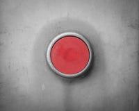 Rétro bouton industriel vide rouge Photographie stock libre de droits