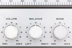 Rétro boutons de contrôle par radio images libres de droits