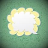 Rétro bulle de la parole sur le fond vert Images libres de droits