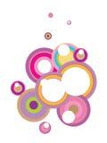 Rétro bulles illustration libre de droits