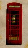 Rétro cabine téléphonique illustration de vecteur
