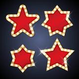 Rétro cadre d'étoile d'ampoule avec l'espace pour le texte Illustration Libre de Droits