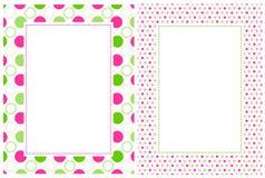 Rétro cadre de points de polka Photographie stock