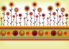 Rétro cadre floral Illustration Stock