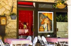 Rétro café de Dubrovnik Images libres de droits