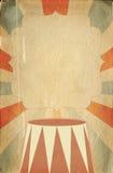 Rétro calibre d'affiche de style de cirque sur le fond de losange avec le ri Image libre de droits