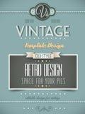 Rétro calibre de page ou de couverture de vintage illustration de vecteur