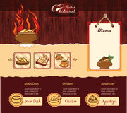 Rétro calibre de restaurant illustration libre de droits