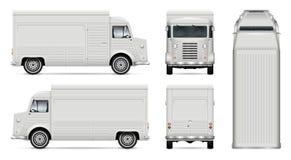 Rétro calibre de vecteur de camion de nourriture Photos libres de droits