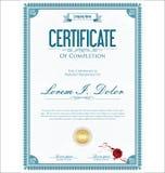 Rétro calibre de vintage de certificat ou de diplôme Photographie stock