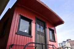 Rétro cambuse rouge Photos libres de droits