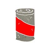 rétro canette de bière de bande dessinée illustration stock
