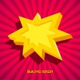 Rétro carte avec le signe d'explosion Image stock