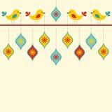 Rétro carte d'oiseaux Illustration Stock